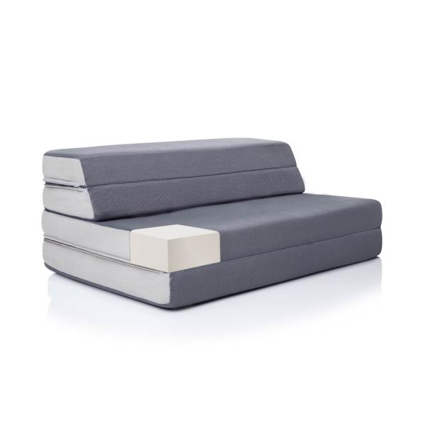 "4"" Folding Foam Mattress + Sofa Style Floor Chair by Lucid ..."