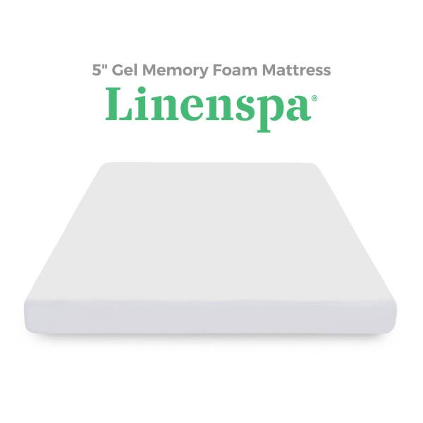 5 Gel Memory Foam Mattress By Linenspa Linenspa