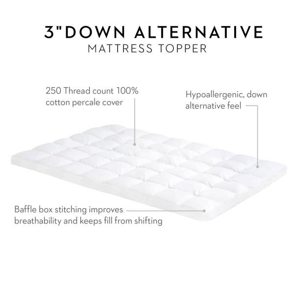 Down Alternative Mattress Topper by Isolus Linenspa
