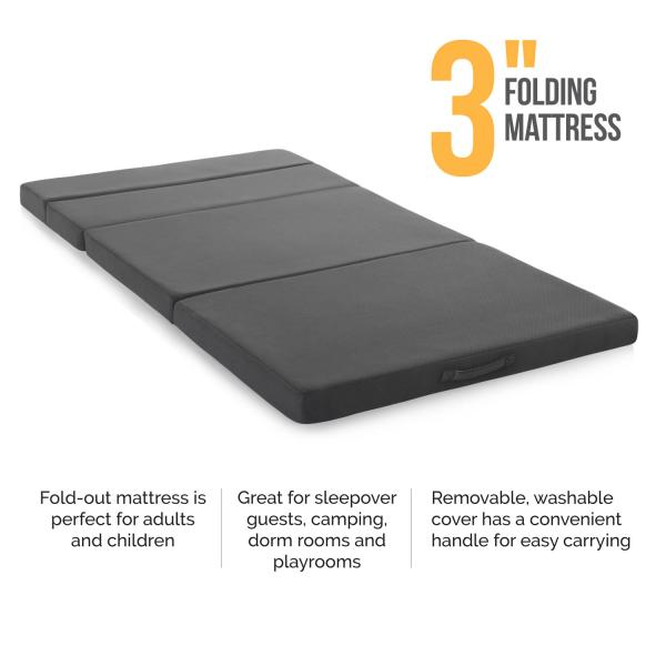 "3"" Folding Mattress by Lucid Linenspa"