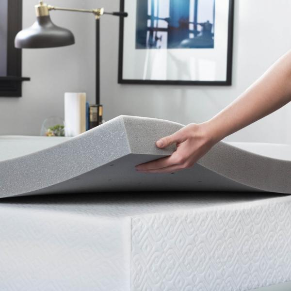3 Inch Bamboo Charcoal Memory Foam Mattress Topper By